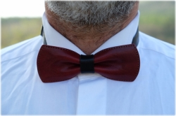 LK leather bow tie