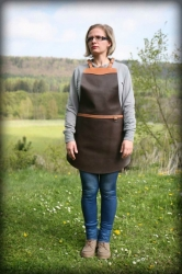 LK leather apron pork without pockets